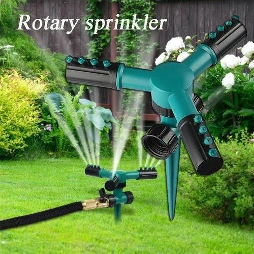 Tre Braccio Sprinkler Automatico 360 Gradi Testa A Spruzzo Rotativa Domestica Colore Verde Giardino Prato Irrigazione Irrigazione Attrezzature CCA11621 40 pz