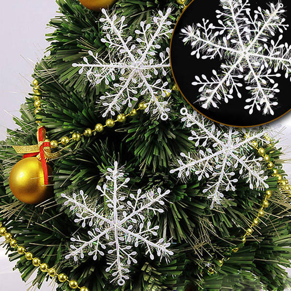 30Pcs New Classic White Snowflake Ornaments Christmas Supplies Holiday Party Home Garden Decor Dropshipping D5