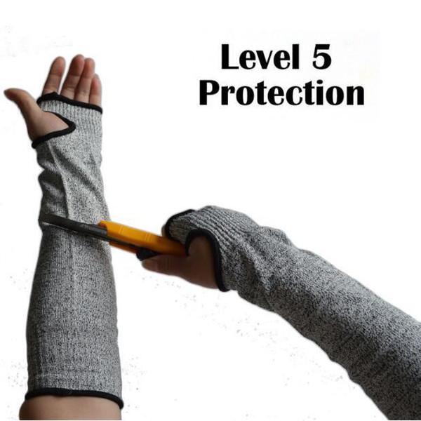 Manga protectora anti-corte Protección de brazo Protector de muñeca Manga de muñeca Guantes Brazos Trabajo en el trabajo Protección laboral 2pcs / pair CCA10935 50 pares