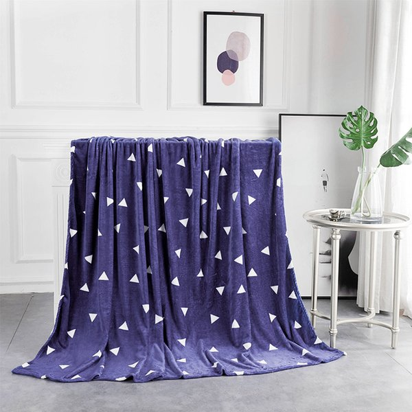 Brand Blue bedspread blanket 200x230cm High Density Super Soft Flannel Blanket to on for the sofa/Bed/Car Portable Plaids