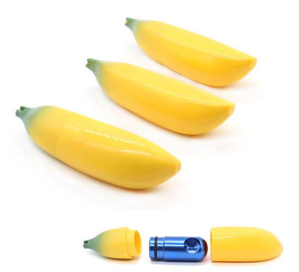 Plastic Shell Banana Molding Metal Pipe Portable Removable Mini Aluminum Pipe