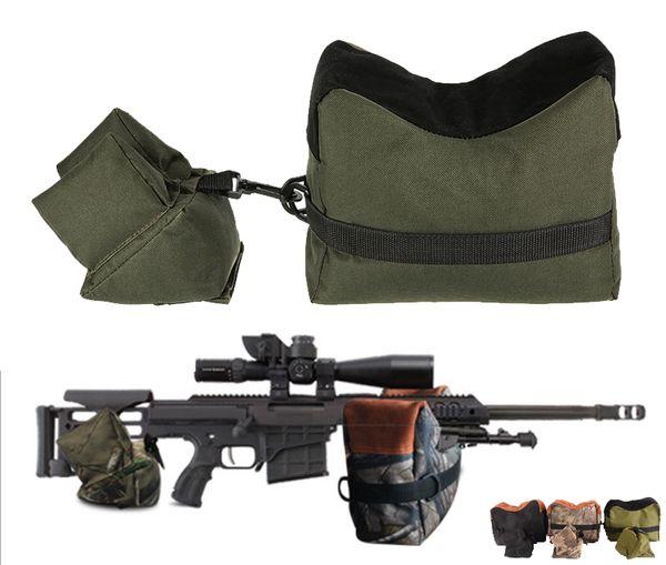 Tático Exército Sniper Shooting Rifle Bag FrontRear Suporte Bolsa De Areia Fotografia Ao Ar Livre Caça Alvo Stand Caça Gun Acessórios