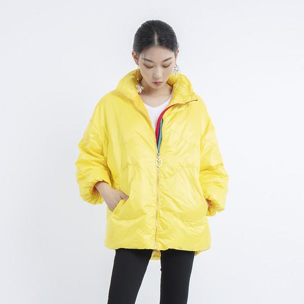 2019 nova moda soprador mulheres casaco pato luz para baixo mulheres jaqueta de inverno de alta qualidade além de coreia tamanho de roupa curta outwear