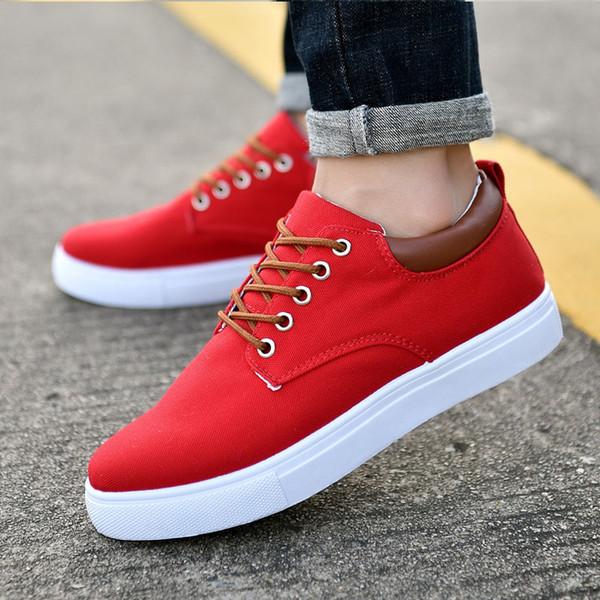 nuove scarpe da ginnastica di tela uomini di modo nero bianco blu grigio mens rosso scarpe casual fuori da jogging modo di camminare 4