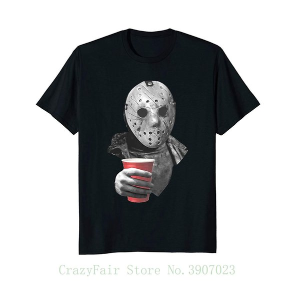 f947020b031 Drinking With Jason Funny And Scary Halloween Tee Good Quality Brand Cotton  Shirt Summer Style Cool Shirts T Shirts Shop Online Of T Shirts From ...