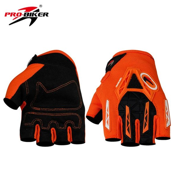 Wholesale- PRO-BIKER Motorcycle Racing Half Fingers Gloves Breathable Motocross Off-Road Riding Gloves Bike Bicycle Cycling Gloves Guante