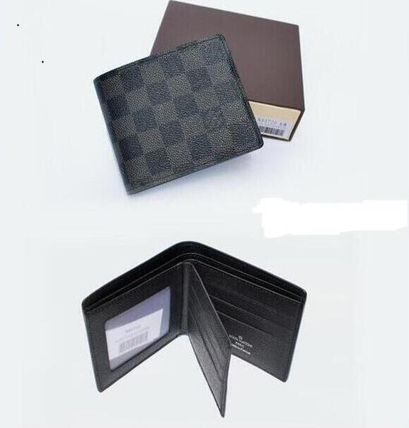 gran selección de 3a68c 22c7c Compre 2019 Louis Vuitton Hombre Cartera De Cuero Genuino Casual Short Card  Holder Pocket Monedero Carteras Para Hombres Envío Gratis 10821 A $15.23 ...