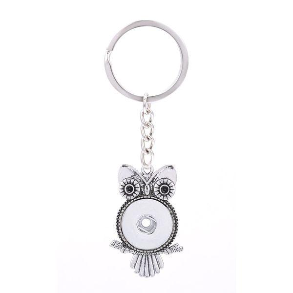 Austauschbare Top Beliebte 028 Mode Metall Schlüsselanhänger Fit 18mm Druckknopf Schlüsselbund Schmuck Für Männer Frauen schlüsselanhänger Geschenk