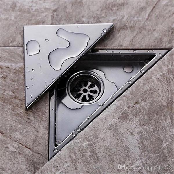 top popular Hidden type Triangle Tile Insert Floor Waste Grates Shower Drain 232mm*117mm,304 Stainless steel floor drain 2021