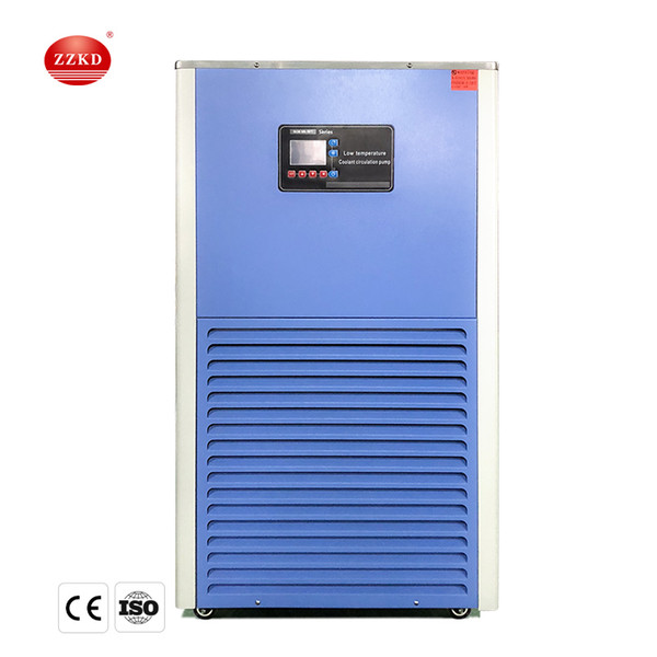 top popular ZZKD Refrigerated Circulator Low Temperature Laboratory Cooling Chiller DLSB 50L Lab Recirculating Chiller Cycling Liquid Cooling Pump 2020
