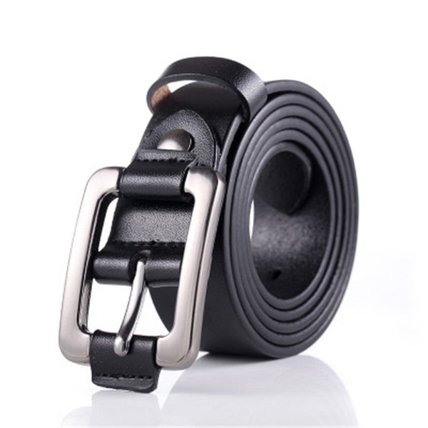 Vintage Ladies Leather Belt Youth Casual Women's Rectangle Women Solid Fashion Buckle Belt Waist Thin Straps Waistband H026