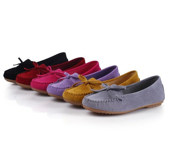 Dress Shoes 2019 Spring Bow Wild Single Women's Foot Peas Comfortable Soft Bottom Low Heel Women's
