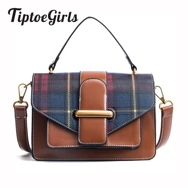 Nähte Checkered Hit Multi-Color Mobile Small Package Europa und die Vereinigten Staaten New Style Wild Shoulder Messenger Bag