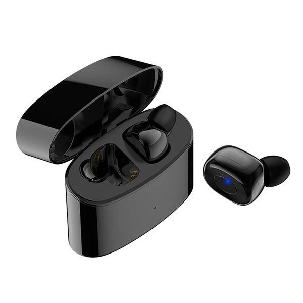 casque sans fil Bluetooth TWS-T6 mini-basse tactile casque Bluetooth sans fil sport réel stéréo pour Xiaomi Samsung Huawei avec microphone.