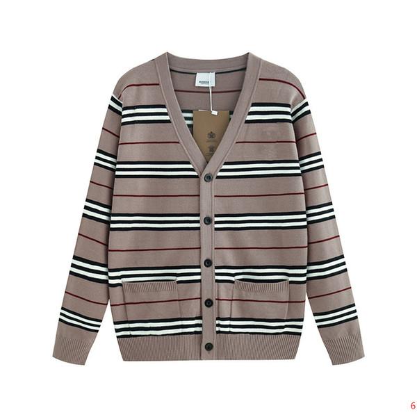 Роскошные дизайнерские свитера для мужской женской осенней марки свитер с V-образным вырезом Модные мужские свитера с полосатым рисунком высокое качество S-2XL