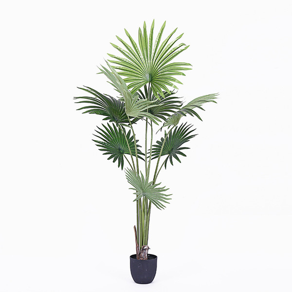 2019 Artificial 160/180cm Brown Fan Tail Bonsai Artificial Plants Potted  Greenery Plant Fake Tree Living Room Decoration Fake Plants From Hymen, ...