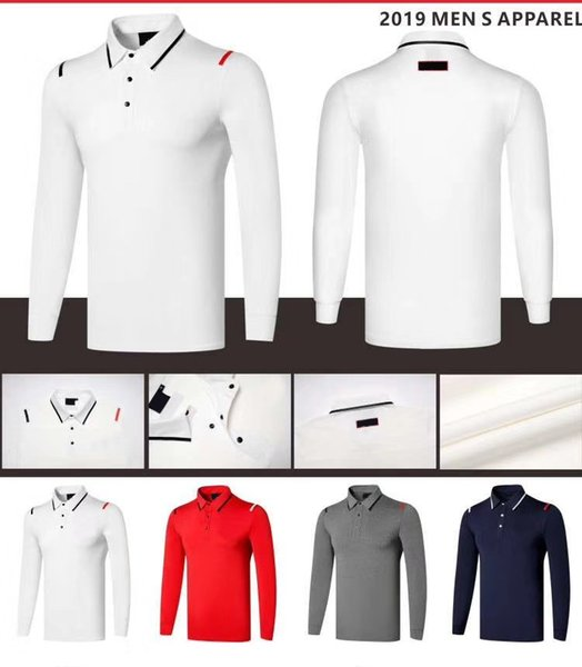 best selling 2019 OEM Ti golf T-shirt Spring Autumn long sleeve sports functional cloth dry fast smooth touch sport tops 4 colors available