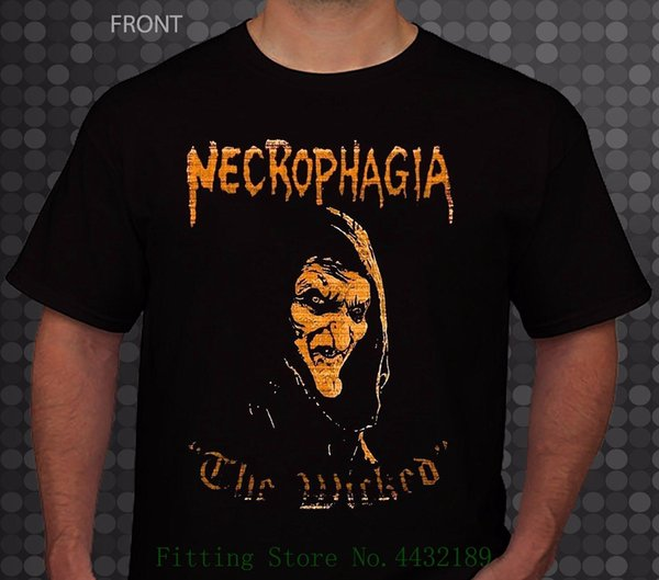 Necrophagia A Wicked American Death Metal Banda, T _ Shirt Tamanhos: S Para 6xl 2018 New 100% Algodão T-shirts Homens