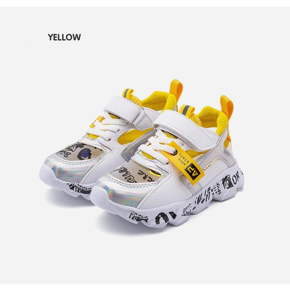 Высокое качество дети обучение кроссовки дети ходьба спортивная обувь 26-35