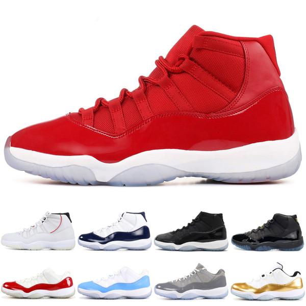 11 zapatos de baloncesto para hombre Gimnasia roja Ganar como 96 Concord Space Jam 11s Low Cool Gray Diseñador de zapatos Deporte Hombre Mujer Zapatillas