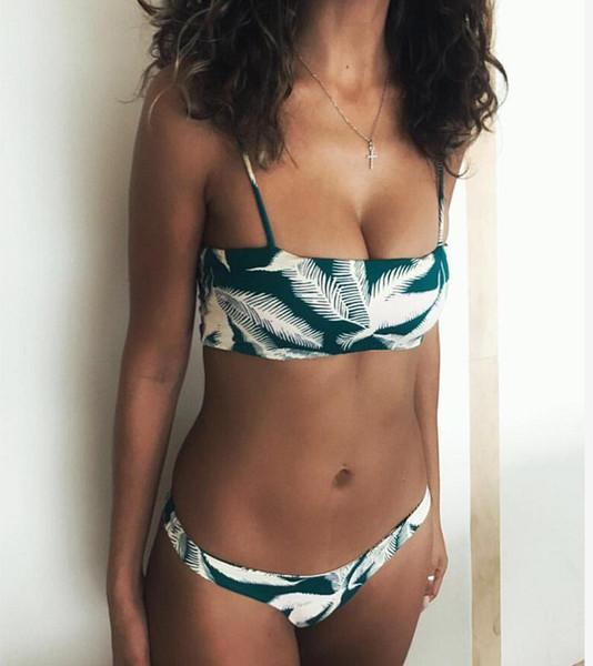 2019 Sexy Bikini Set Push Up Swimsuit Women Swimwear Female Print Bathing Suit Lower Waist Thong Brazilian