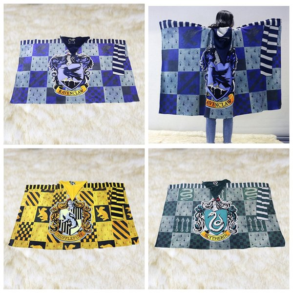 Harry Potter Coperte di corallo del panno Cappotti Double Sided spessa coltre con il cappello caldo molle della peluche divano letto Coperte HHA1019