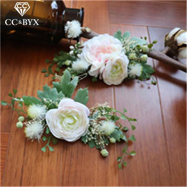 Cc Hair Sticks Hairpins Combs 2pcs Sets Forest Flowers Wedding Accessories Bride Engagement Bridesmaids Jewelry Handmade Mq020 SH190713