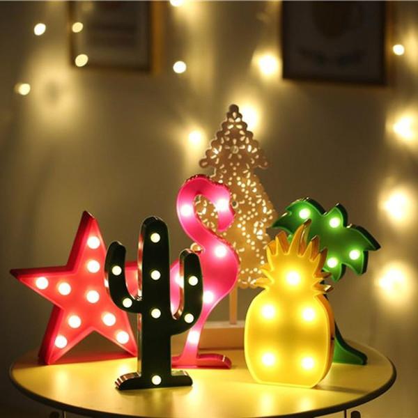 3d Led Gece Lambası Romantik Masa Dekoratif Lamba Parti Malzemeleri