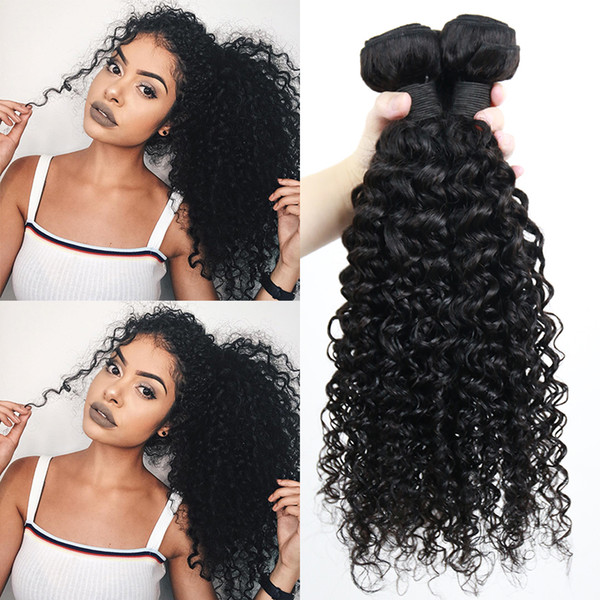 깊은 곱슬 번들로 폐쇄 브라질 레미 인간의 머리 자연 블랙의 경우 여성 Dolago 번들 제품