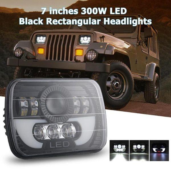 7x6 / 5x7 pouces 300W LED phare rectangulaire Salut-Lo Light pour camion de voiture SUV IP67 étanche Fonction anti-choc de haute qualité