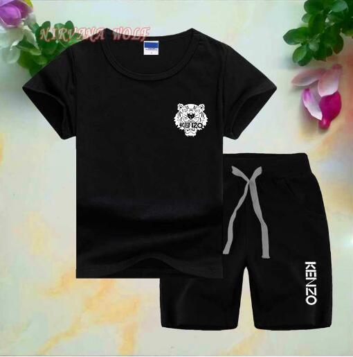 2019 marke Logo Luxus Designer Kinder Kleidung Sets Sommer Baby Kleidung Druck für Jungen Outfits Kleinkind Mode T-shirt Shorts Kinder Anzüge