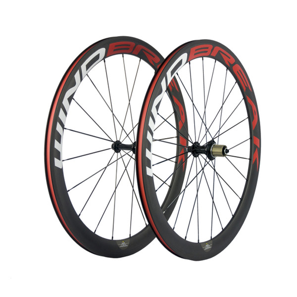WINDBREAK BIKE Carbon Clincher Bike Wheelset 700c 38mm Matte with Good Design Racing Road