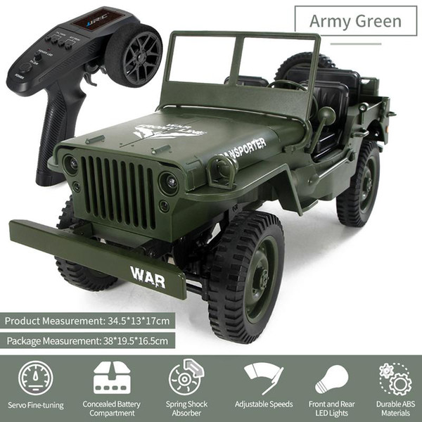 Military Jeep For Sale >> Wholesale Military Jeep Remote Control Buggy 4 Wheel Drive Rc Truck Suspension Off Road Vehicle Simulation Model 1 16 Child Remote Control Cars For
