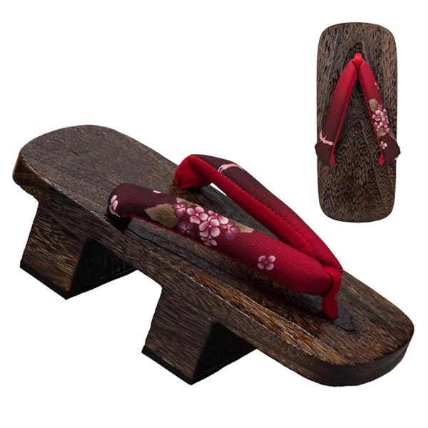 Женская японская традиционная обувь Geta Деревянные сабо Сандалии для кимоно и юка