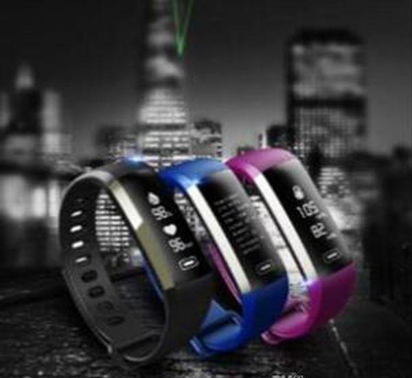 2019 M2 Pro Pulsera inteligente Fitness Tracker Pulseras Presión Arterial Presión Arterial Reloj Medidor de Pulso Oxígeno Impermeable SMS Llamada Banda Deportiva