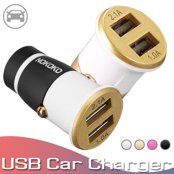 Dual USB Car Charger 4.4A Fast Car Charging Adapter For iPhone Samsung Huawei USB Car-Charger Mobile Phone Charger