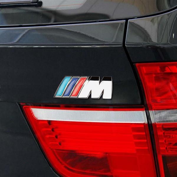 M power Logo Sticker Emblem Badge Chrome For BMW E46 E60 E90 F20 F10 M3 M5 M6
