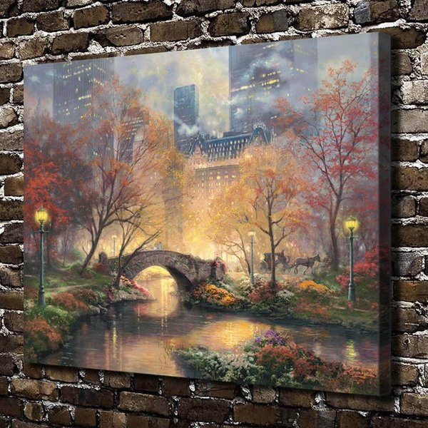 fall wall deor.htm 2019 central park in he fall home decor hd printed modern art  central park in he fall home decor hd