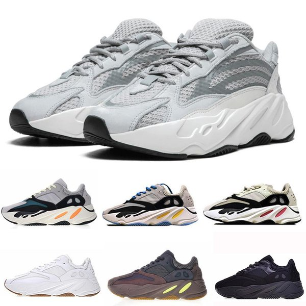 Wave Runner 700 Kanye West Glow in Dark Reflective line 2017 New Running shoes size 36-46 With bottom and 3M material