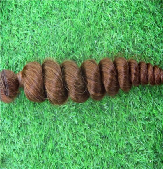 Dark Medium Brown Color Brazilian Loose Wave Hair Weaving 100% Human Hair Extensions 10-30 Inchs Virgin Hair Weave Bundles