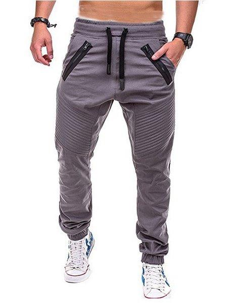 Pantaloni casual da uomo Pantaloni sportivi con cerniera tessuta Pantaloni a strisce Pantaloni da ginnastica confortevoli Pantaloni sportivi da jogger di design