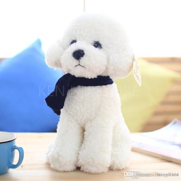 33cm Teddy Dog kids toys cute Bichon dog Plush Doll Baby toys Simulation doll for girl children birthday gift