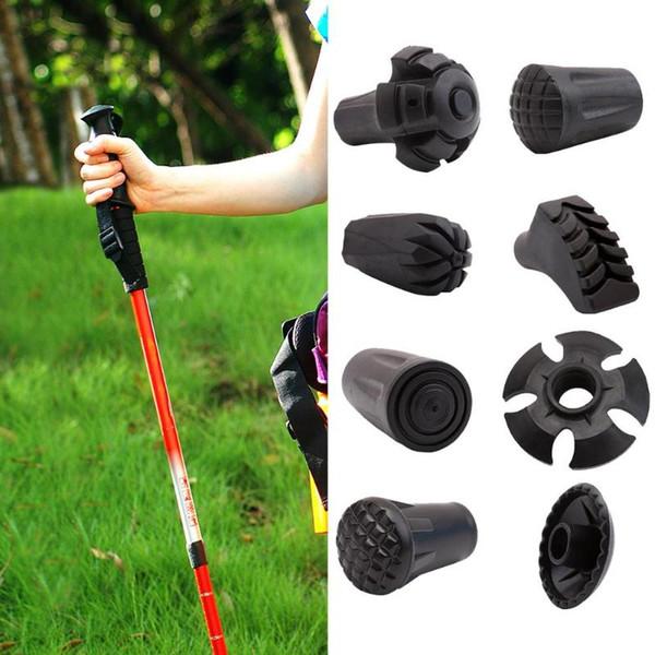 Outdoor Wandern Nordic Walking Stöcke Tipps Protektoren Wanderstock Ersatzspitzen Adjustable Spazierstock Kopf Protecter