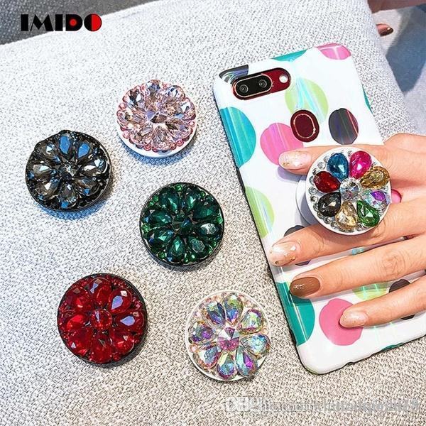 Annulaire Phone Holder diamant bling SmartPhone Stander pour iPhone Samsung Universal Cell Phone expansibles