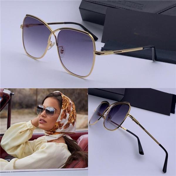 New popular fashion men German designer sunglasses 224 metal retro frame sunglasses fashion simple avant-garde design style with case