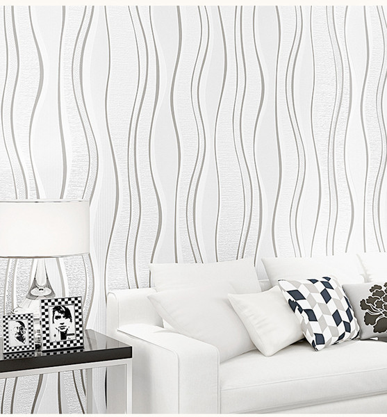 10Mx53CM 현대 거실 TV의 배경 벽지 비 짠 몰려 들고 스트라이프 벽지 패션 침실 장식 벽지