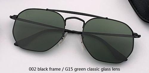 002 أسود / G15 الخضراء عدسة زجاج الكلاسيكية