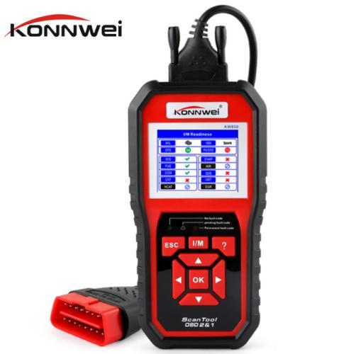 OBD OBD2 الماسح الضوئي أداة تشخيص السيارات للمحرك KONNWEI KW850 العالمي