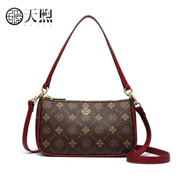 Pmsix 2019 New Fashion Women Bag Luxury PVC Material Women Bags Designer Printing Handbags Shoulder Messenger Bag Leather Backpack Clutch Bags From