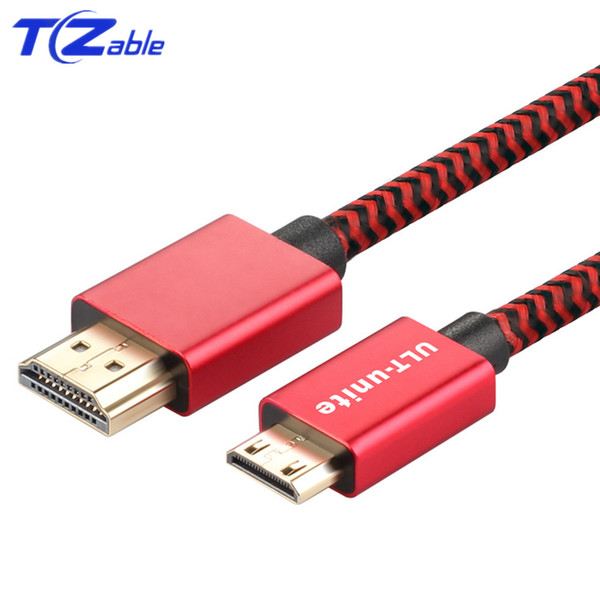 HDMI To Mini HDMI Cable 2.0 4K 60Hz HD Line Gold Plated Plug For Computer Projector Camera Monitor Notebook Audio Video Cable